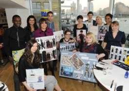Middlesex Fashion students at London's Blue Print Café, South Bank Centre